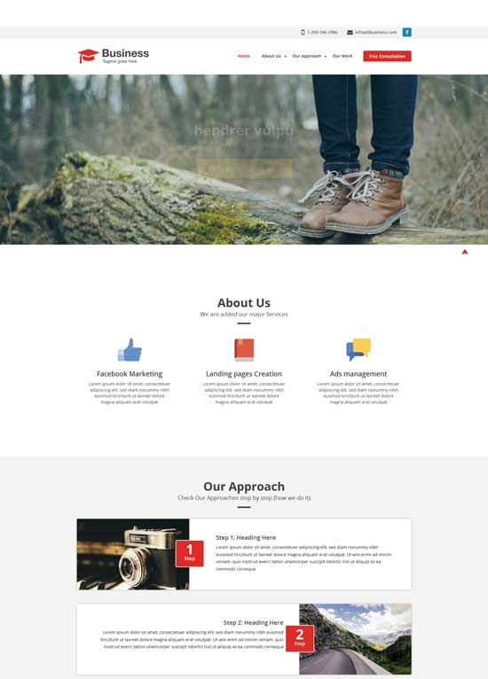 250 free responsive html5 css3 website templates wayhunt agency business free responsive website template cheaphphosting Images