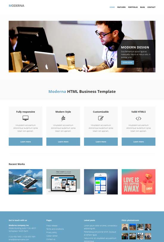 Free-Bootstrap-template-for-corporate-Moderna
