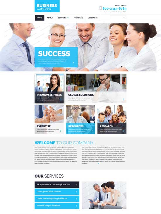 250 free responsive html5 css3 website templates wayhunt free html5 business website template fbccfo Image collections